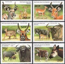 Benin 1996 Animals/Antelopes/Buffalo/Kudu/Impala/Nature/Wildlife 6v set (b8274)