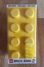 1 x LEGO LARGE YELLOW CERAMIC 8 BRICK MONEY BOX