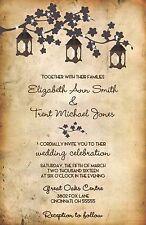 Wedding Invitations Lanterns Tree  Rustic Country 50 Invitations & RSVP Cards