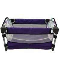 "Graco Baby Doll Pack 'n Play ""Just Like Mom"" Deluxe Playset Purple Toy Mini Crib"