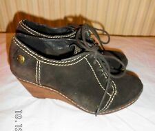 Clarks real suede Brown wedge shoes Size UK 6 EU 39