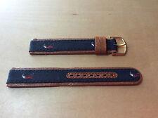 New - COBRA Brown Leather Strap 16 mm - Correa Piel Marrón 16 mm - Very rare