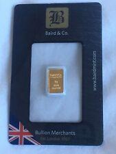 Baird & Co. 1g Fine Gold Bar 1 Gram - NEW & SEALED