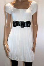Sweetacacia Brand White Black Mock Wide Belt Gypsy Dress Size 14 BNWT #TL14