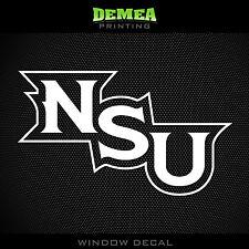 """Northwestern State - Demons - NCAA - White Vinyl Sticker Decal 5"""""""