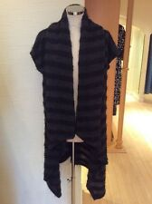 Eden Rock Cardigan Size M BNWT Black Grey Stripe Draped RRP £121 Now £48