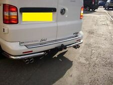 VW T5 TRANSPORTER STAINLESS STEEL CUSTOM BUILT EXHAUST SYSTEM TWIN TAIL PIPES