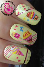 NAIL ART WRAP WATER TRANSFERS DECALS STICKERS ICE CREAM LOLLY SUNDAE GLITTER #16