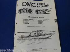 (432846 5/88) 1989, 25 Commercial Models Omc Evinrude Johnson Parts Catalog