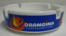 PETIT  CENDRIER  ORANGINA , EN OPALEX BLANC  , VOR78