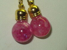 BEAUTIFUL  FLOATING RUBY MOONSTONE  EARRINGS 18K GOLD FILLED