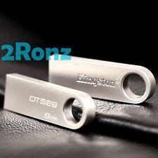 Kingston DT SE9 8GB 8G USB Pen Drive Disk DataTraveler Keyring Ultrabook Metal
