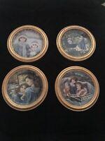 """Bradford Exchange """"Kindred Moments"""" Collectors Framed Plates Set Of 4"""