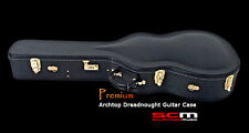 BRAND NEW PREMIUM DREADNOUGHT ACOUSTIC GUITAR HARD CASE PLUSH LINED HARDCASE