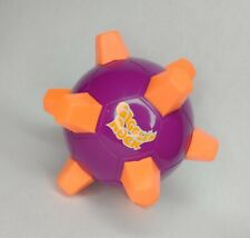 Giggle 'N Rock Ball Vibrating Laughing Toy Purple W/ Orange Studs Motorized