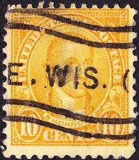 US - 1927 - 10 Cents Orange James Monroe Rotary Press Issue 642 Wisconsin Cancel