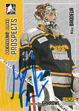 MIKE BRODEUR GRRROWL AUTOGRAPH AUTO 05-06 HEROES & PROSPECTS #353 *10886