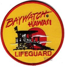 Baywatch Lifeguard Logo Crest Badge Iron or Sew On Fancy Dress Patch  # 200