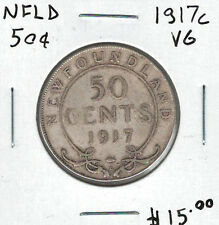 Canada Newfoundland NFLD 1917c 50 Cents VG Lot#4