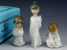 Lladro Nativity Figurines Ornaments Three Mini Angels Set #1604 Mint Box