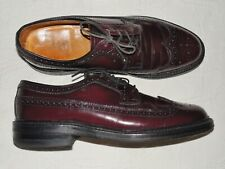 Vintage HANOVER LB Sheppard Signature Cordovan Leather Wingtips Oxfords 7.5 C