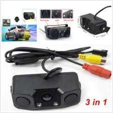 3in1 Car Parking Reversing Radar Sensor Rearview Backup Camera Universal Durable