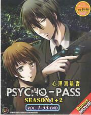 DVD Psycho-pass Season 1+2 ( Vol 1-33 End + Movie ) + Free Gift