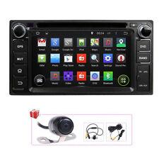 Camera+Map Android 4.4 Radio GPS Satnav DVD Headunit For Toyota Corolla Hilux