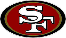 "San Francisco 49ers NFL Football bumper sticker wall decor vinyl decal, 5""x 3"""