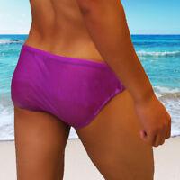 Men's Swim Trunks Cool Swimwear Bikini Beach Swimming Boxers Swimsuit 4 Colors