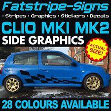 RENAULT Clio MK1 MK2 grafica Adesivi Decalcomanie Strisce 1.2 1.6 2.0 3.0 RS V6 182