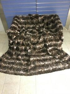 Luxury Sable Fur Throw Real Russian Sable Bedspread Sobol KING Size