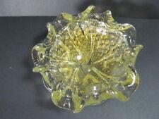 VINTAGE MURANO SILVER & GOLD AVENTURINE FLECKS WITH CONTROL BUBBLES,GLASS BOWL
