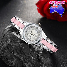 Women's Alloy White +Pink  With diamond  Wrist Watch