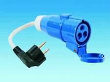 CONTINENTAL EUROPE SCHUKO MAINS HOOK UP ADAPTER LEAD 230V 16A CARAVAN MOTORHOME