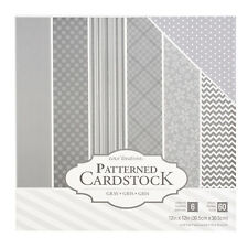 """AC Core'dinations 12"""" x 12"""" Patterned Cardstock Paper Pack - 60 Sheets, Grey"""