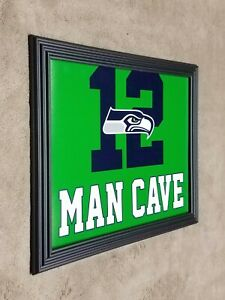 Seattle Seahawks MAN CAVE Framed 8x10 Photo