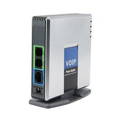 Unlocked PAP2T-NA SIP VOIP Phone Adapter 2 Port Internet Phone EU Adapter SWTG