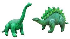 Inflatable Stegosaurus Brachiosaurus 2 Pack Dinosaur Great for Pool Party Fun