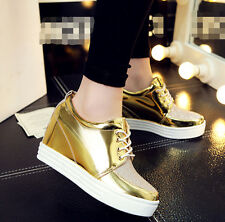 Womens Ladies Glitter Strappy Wedges Heels Platfoem Sneakers SHoes Plus SZ Vogue