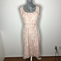 Tory Burch Womens Dress Light Pink Floral Sleeveless Silk Sheath Size Small 4