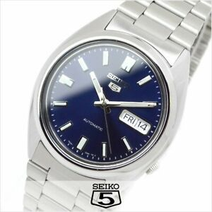 SEIKO 5 SNXS77 SNXS77K1 21 Jewels Automatic 30m Original Box Navy !