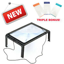 3X Hands-Free Full Page Free-Standing Magnifier with 4 Ultra Bright LED Lights