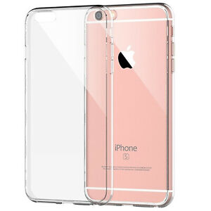 Clear Cover Case for iPhone 6 Soft Silicone Shockproof  Back Cover Protector UK