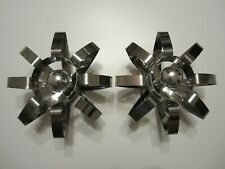 ANCIENNES APPLIQUES CHROMEES 1970 SEVENTIS STYLE MAX SAUZE/VINTAGE/OLD WALL LAMP