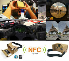 3D Virtual Reality VR Google Cardboard + FULL NFC + MAGNETCS Android, iPhone IOS