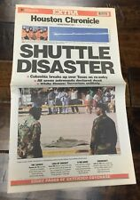 Space Shuttle Columbia Breaks Up Over Texas FEB 1 2003 EXTRA Houston Chronicle