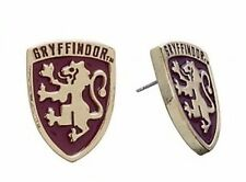 Harry Potter GRYFFINDOR Crest Metal Enamel Post Stud Earrings