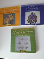 Anchor Book of Freestyle Embroider, Ribbon Embroidery, Hardanger (3 books)