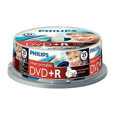 25 PACK PHILIPS 16x SPEED DVD+R DISCS 4.7GB - FREE FAST POSTAGE, UK SELLER